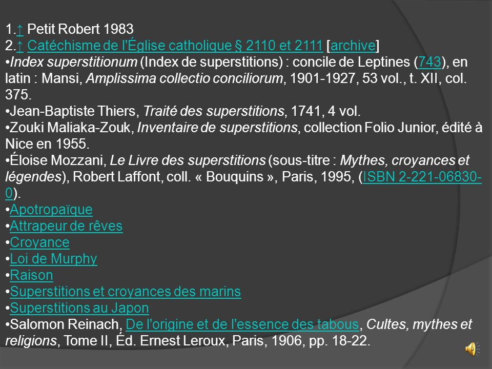 ↑ Petit Robert 1983 ↑ Catéchisme de l Église catholique § 2110 et 2111 [archive]